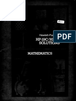 HP-19C & 29C Solutions Mathematics 1977 B&W