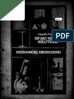 HP-19C & 29C Solutions Mechanical Engineering 1977 B&W