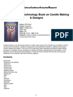 The Complete Technology Book on Candle Making &Amp; Designs