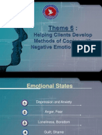Theme 6 - Helping Clients Develop Methods of Coping With Negative Emotional States (13)