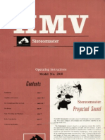 HMV Stereomaster 2018 Operating Instructions. Stereo record player, stereogram