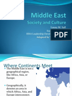Middle East Society & Culture