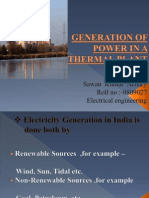 Generation of Power in a Thermal Power Plant