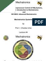 Lecture 4 Mechatronics application list