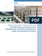 Recommended Methods for the Identification and Analysis of Barbiturates and Benzodiazepines Under International Control (2012)