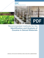 Recommended Methods for the Identification and Analysis of Cocaine in Seized Materials (2012)