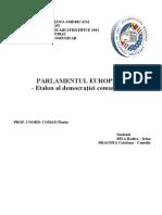 PARLAMENTUL EUROPEAN - Etalon al democraţiei comunitare -
