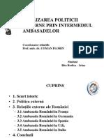 REALIZAREA POLITICII EXTERNE PRIN INTERMEDIUL AMBASADELOR