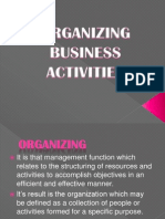 Organizing Business Activities