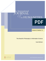 The Need for Philosophy in Information Science