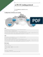 Manual-OSPF as PE-CE Routing Protocol