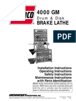 Ammco 4000gm Operation Manual