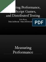 Measuring JavaScript Performance, JavaScript Games