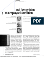 Rewards and Recognition in Employee Motivation