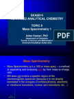 Topic 8 Mass Spectrometry