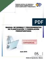Manual de Planificacion y Formulacion PresupuestariaF
