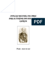 # - Allan Kardec - Catalogo Racional Das Obras Para Se Fundar Uma Biblioteca Espirita - [ Espiritismo]
