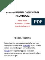 Fungsi Partisi Dan Energi Helmholtz