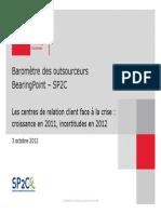 Etude BE-SP2C 2012 Barometre Outsourceurs
