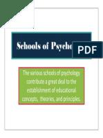 Schools of Psychology - Slides