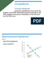 Macro Equlibrium