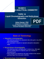 Topic 13 Liquid Chromatography & Solid-Phase Extraction