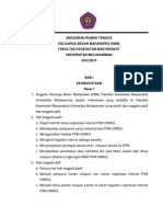 Anggaran Rumah Tangga KBM FKM Unmul