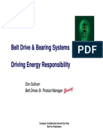 Belt Drive and Bearing Driving Energy Responsibility
