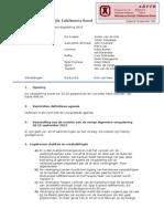 Verslag ALV ABTTB Dd 9 Sept 2013