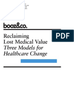 BoozCo Reclaiming Lost Medical Value Three Models