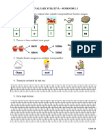Evaluare Sumativa Rom Sem i Cls i Varianta 2 Matrice Bareme