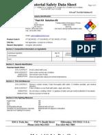 D-Lead Test Kit Soultion 2 Msds