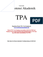 Tes Potensi Akademik TPA Download Gratis