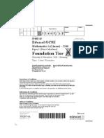 01 5540F Paper 1 Foundation Tier November 2008