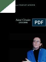 Portrait d'Aimé Césaire pour Christiane Achour
