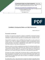 Olivera, Estabilidad y Participación Política en el Chile Posdictatorial.