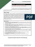 Issue Resolution Status Report