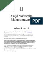 Yoga Vasishtha Maharamayana Vol 4