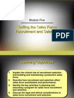 Selection and Training of Sales Force