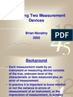 Comparing Two Measurement Devices