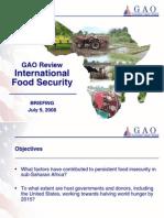 GAO Briefing Food Security