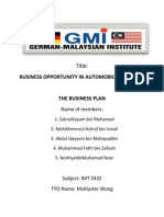 Business Opportunity in Automobile Industrty