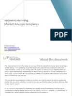 Market Analysis Template by Mutual Ventures - Children and Youth Services Sector