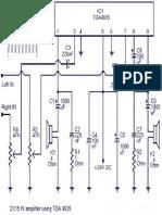 15x2 Watt Amplifier Circuit Using Tda4935