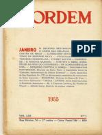 O Limbo Das Criancas Dom Estevao Bettencourt a Ordem Janeiro 1955