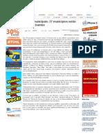 SiteBarra » Contas municipais_ 37 municípios estão na corda bamba