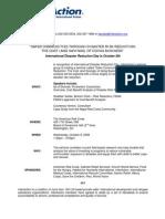10-07-08 IntlDisasterReduct Day Advisory