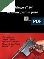 MÁUSER C-96 , DESARME PASO A PASO