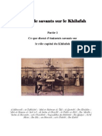 Paroles de Savants Sur Le Khilafah-Part1