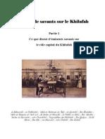 Paroles de Savants Sur Le Khilafah-Part1